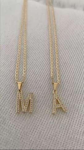 Hermosas Cadenas para parejas Hechas en Oro Laminado 18K