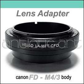 A64 Adaptador Lente Canon Fd Cuerpo M4/3 Lumix Olympus Fuji