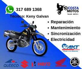 Taller de mantenimiento y reparación para motocicletas