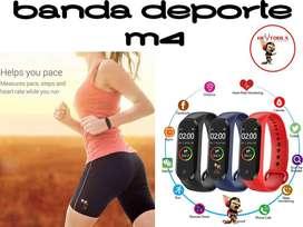 BANDA M4 INTELIGENTE DEPORTE, SALUD, FITNESS