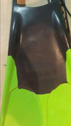 Bodyboard y patas de rana