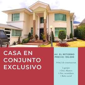venta de casa en conjunto exclusivo con 4 habitaciones en La Av. El Retorno, Ibarra, Ecuador