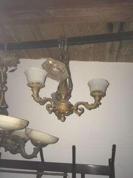 Araña 3 Luces con Tulipas