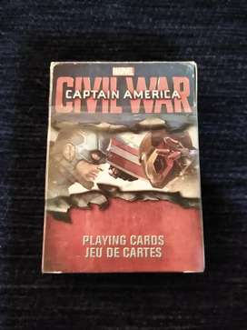 Captain America Civil War  Playing Cards 52 Card Deck
