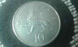 Moneda De Gran Bretaña Inglaterra 10 Ten Pence
