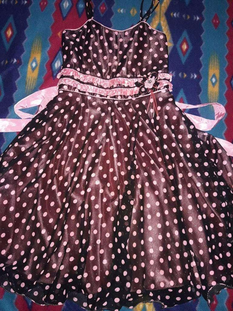Vestido Bello Coral con Negro 0