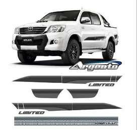Calcomanias Toyota Hilux Limited 2015 Degrade Juego Completo simil original