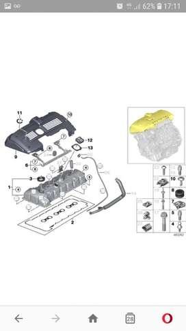 3x Tornillos Torx de Tapa Motor Bmw