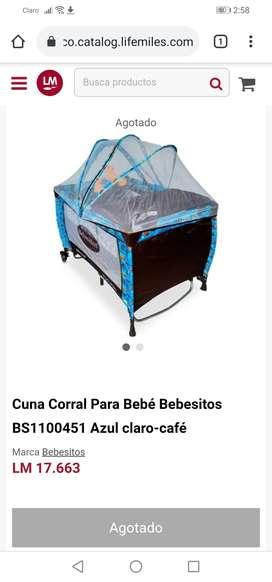 Cuna corral para bebé tipo camping marca Bebesitos