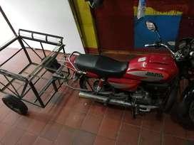 Vendo moto honda hero 100 con trailer de carga