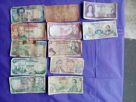colección de billetes antiguos