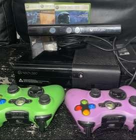 XBOX+KINET+ACCESORIOS 2controles originales 3 juegos originales