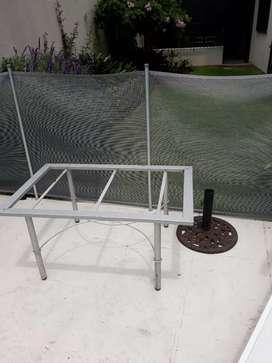 Mesa hierro  sin vidrio liquido