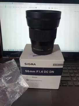 Lente sigma 56mm f1.4 sony e mount apsc