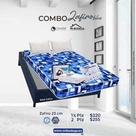COMBO CLCHÓN + BASE ZAFIRO  1 1/2 PLZ