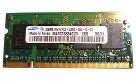 Memoria Ram 256mb Sodimm Pc2 5300s 555 Samsung