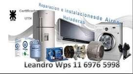 Reparación e instalación de Aires acondicionados, lavarropas y heladeras