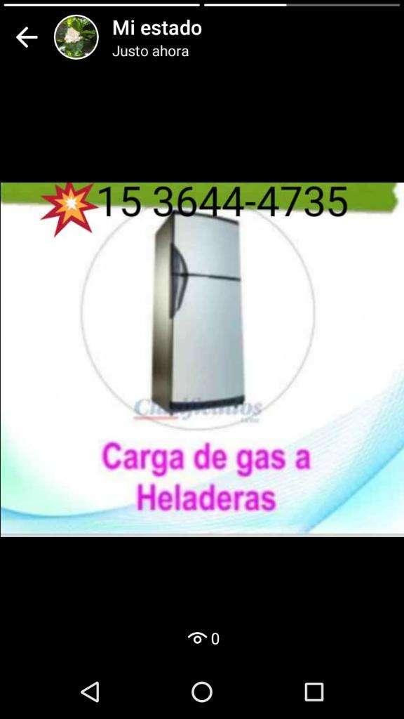 Carga de Gas Heladera en El Dia 0
