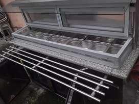 cervis de frutas o ensaladas con compartimento de frio