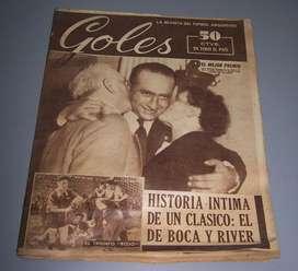 Revista Goles Año 1950 Fangio Peron Evita