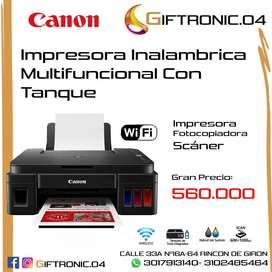 Impresora Canon Multifucional G3110 Wifi Tintas Originales