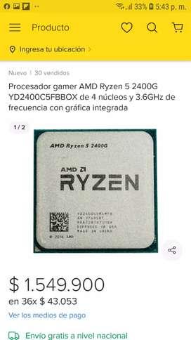 Procesador Ryzen 5 2400 de 3.6