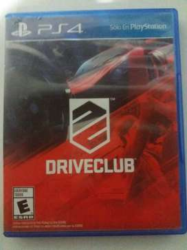 vendo DRIVE CLUB PS4 original fisico impecable muy poco uso