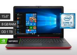 Laptop core i5 8250u 8 GB de ram HD 1tb 2 gb video 15.6 pantalla