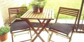 Juego de jardin. Mesa + sillas