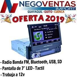 RADIO RETRACTI PARA CARRO USB SD , BT OPCION CAMARA DE RETRO
