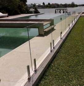 Cerco Vidrio Y Acero, Piscinas Piletas Baranda Balcon H01