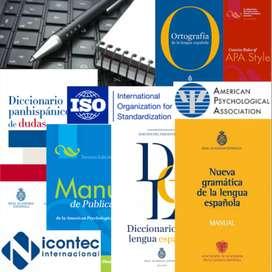 APLICACION DE NORMAS APA, ICONTEC Y VANCOUVER, ASESORIAS TESIS, INVESTIGACIONES Y CORRECCION DE ESTILO