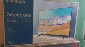 Tv de 55 samsung original pantalla crystal 2020 con comando de voz