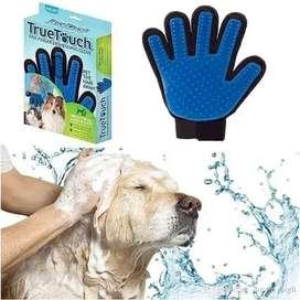 Guante Cepillo True Touch para Peinar Gatos y Perros