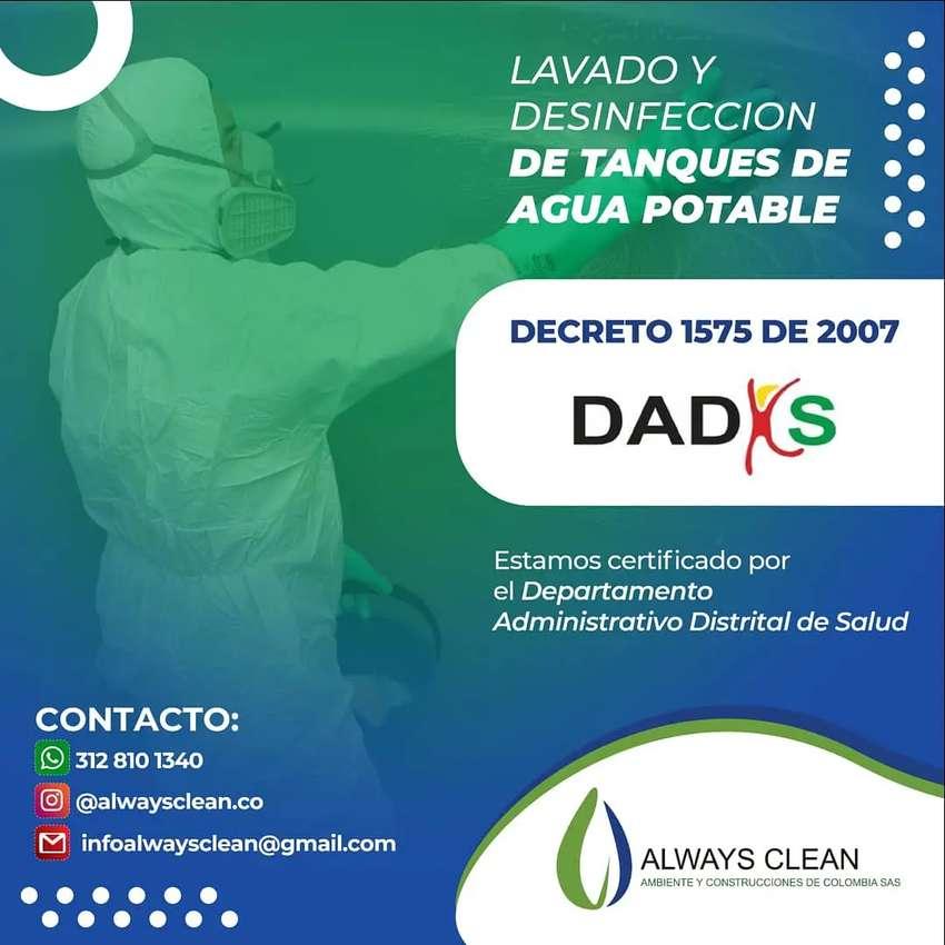 Lavado y desinfeccion tanques almacenamiento de agua potable