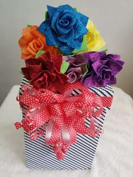Detalles con rosas artesanales