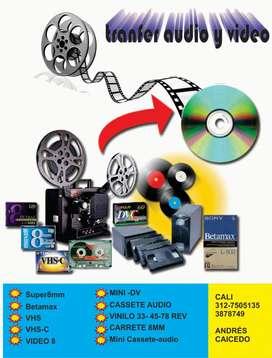 Super 8 vhs minidv video8 TRANSFER desde 15.000  beta vhs mini dv video 8 hi8 vhsc