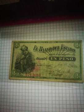 Billete de banco del estado $1 año 1900