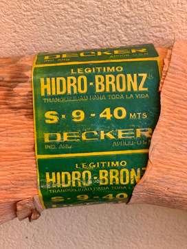 Caño hidro bronz S9 x 40 mts.
