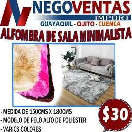 ALFOMBRA DE SALA MINIMALISTA DE 150 X 200CMS EN DESCUENTO EXCLUSIVO DE NEGOVENTAS