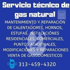 Todo lo relacionado con gas natural y GLP