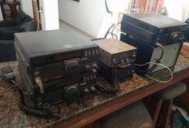 Radios Cahuabe FR 300 y BLU HF YAESU FT 747