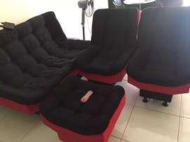 Juego de sala reclinable