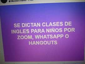 Clases de Ingles para niños por zoom, Hangout o WhatsApp!