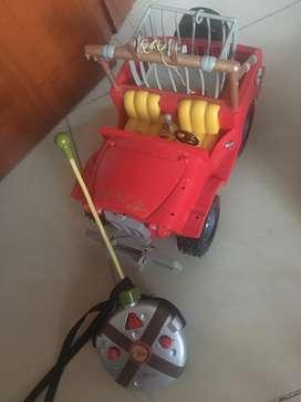 Vendo Carro a control remoto de Safari Disney original