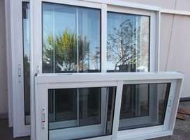 Ventanas aluminio  puertas de ducha vidrio templado