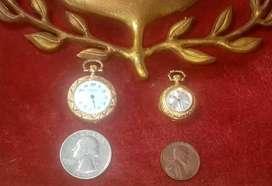ANTIGUOS Relojes Colgantes Bucherer y Fabre Leuba