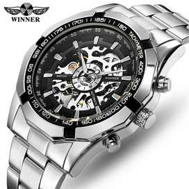 Reloj Automático Winner Acero Skeleton 016