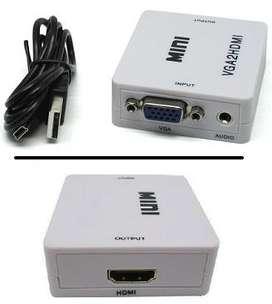 Conversor Vga A Hdmi Adaptador con Audio Hd 1080p