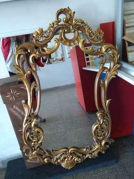 Espejo antiguo de estilo francés espejo rococó hay barroco también Luis 15 espejo tallado espejo grande espejo  antiguo